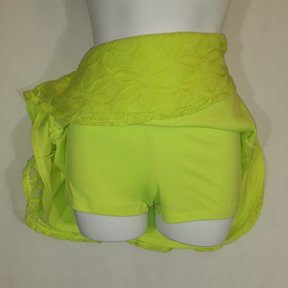 Justice Dresses & Skirts - Lime Green Yellow Justice Skort Skirt Short SZ 12
